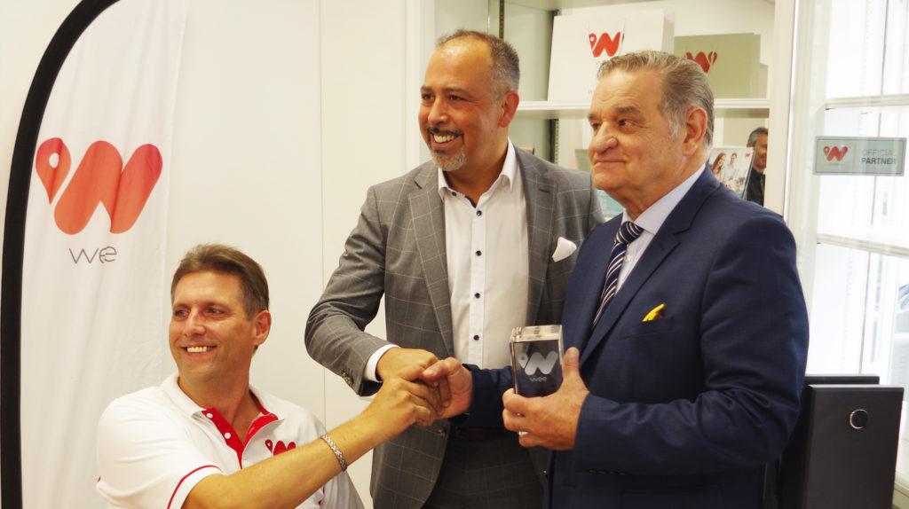Président de beTweeN, Cengiz EHLIZ, Fondateur du Groupe wee et Max ROUSTAN, Maire d'Alès.