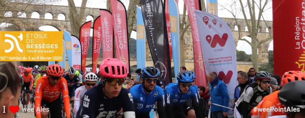 wee Alès sur l'Etoile de Bessèges 2020 au départ Pont du Gard