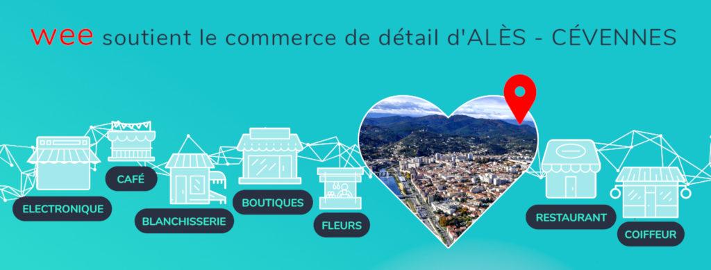 wee soutien le commerce local au coeur d'Alès et des Cévennes